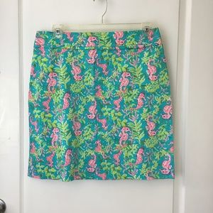 Pink Seahorse Above Knee Cute Casual Skirt Summer